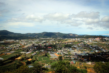 City of Dalat panorama, Vietnam