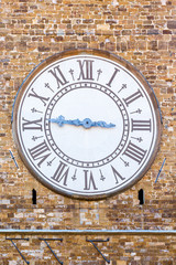 Old clock on a wall