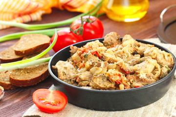 Meat stew with vegetables and spices