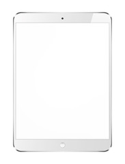 Tablet pc with blank screen  on white background.