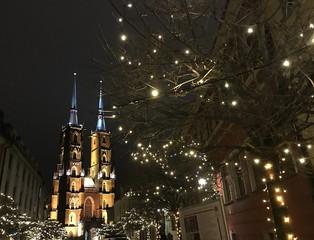 beautiful European city during Christmas holidays