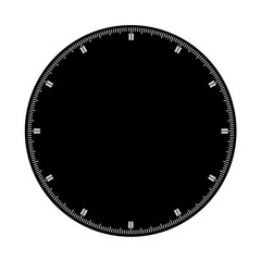black clock face blank isolated on white