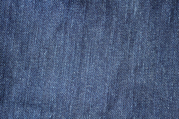 Close up picture of blue jeans fabric, background or texture