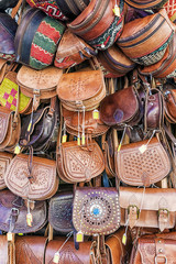 leather bags on the counter market