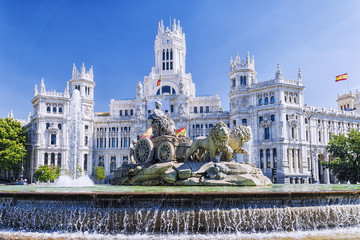 Foto op Plexiglas Madrid Cibeles fountain in Madrid, Spain