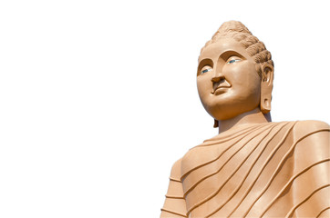 Buddha statue buddha image used as amulets of Buddhism religion isolated on the white background with clipping path