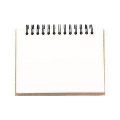 Blank notepad or notebook vintage style on withe background