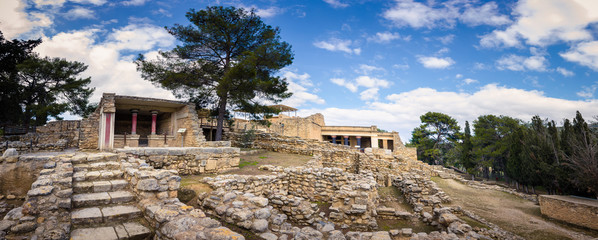 Fotomurales - Ruins of the ancient palace of Knossos, Crete, Greece