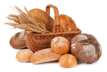 bakery products isolated
