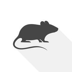 Mouse Icon Flat Graphic Design - Illustration