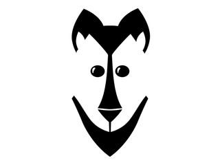 Minimalistic dog face icon