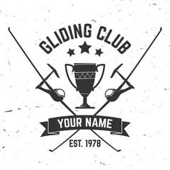 Vector Gliding club retro badge.
