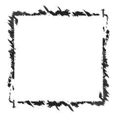 Black and white monochrome abstract frame vector isolated