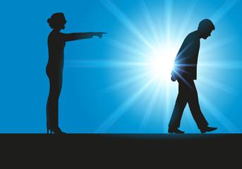 couple - renvoyer - adultère - divorce - séparation