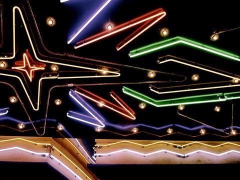 Neon lights, illuminated, close-up
