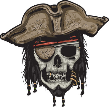Pirate head skull