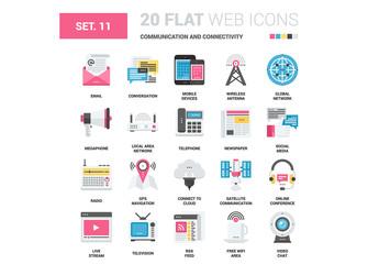 20 CMYK-Styled Communication Icons