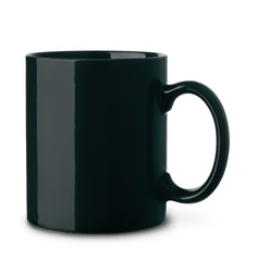 Black ceramics coffee mug