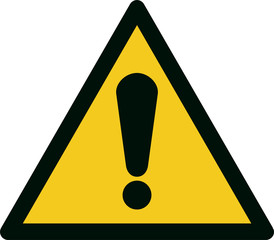 ISO 7010 W001 General warning sign