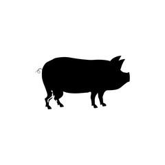 Pork silhouette meal icon vector illustration graphic design
