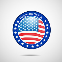 Illustration of background for U.S.A Independence Day