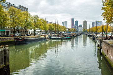 Canal in Rotterdam, Netherlands