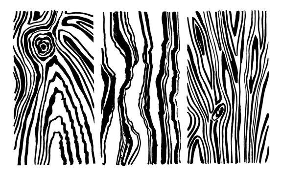 Hand drawn set wood texture