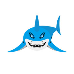 shark smile vector
