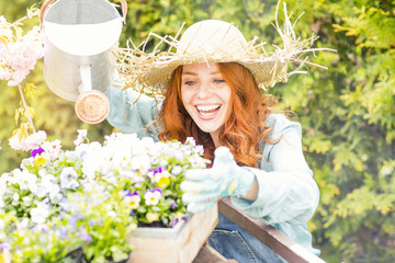Freude bei der Gartenarbeit