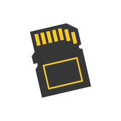 Micro SD memory card icon vector illustration graphic design
