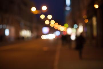 night road. colorful bokeh