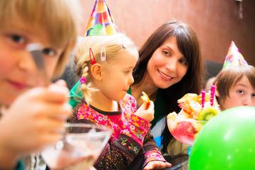 Family Enjoying a Birthday Party