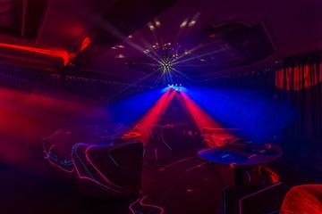 Disco lights at nightclub