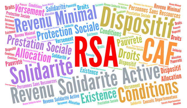 RSA, revenu solidarité active nuage de mots
