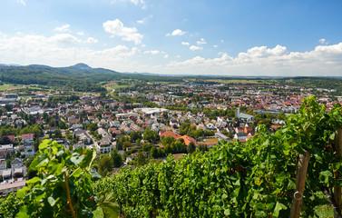 Blick auf Metzingen (Schwäbische Alb)