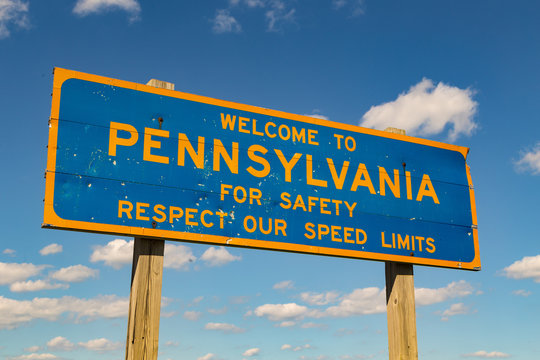 Pennsylvania Blue and Gold Sign
