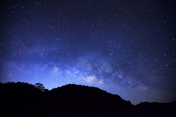 milky way galaxy at Doi Luang Chiang Dao high mountain in Chiang