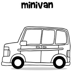 Transportation collection of mini van