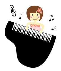 ピアノ発表会 女の子