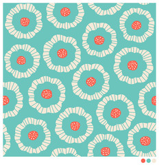 Seamless pattern of colorful floral vector