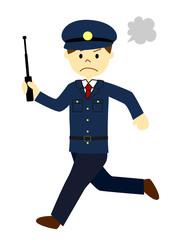 追いかける警察官