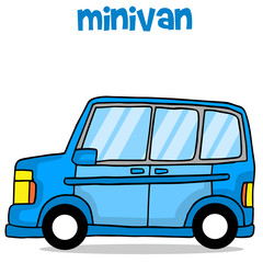 Vector art of minivan cartoon