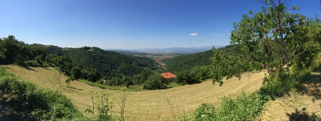 Panorama of the village Slatina from the Mount Kukavica