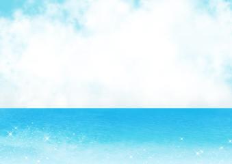 空とキラキラ海