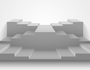 3d realistic stairs concept