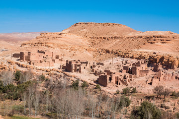 Traditional Berber town in Morocco