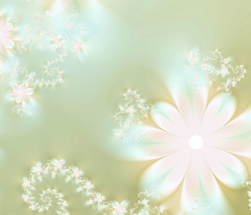 Abstract gentle floral background
