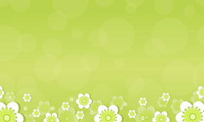 Flower spring background style collection