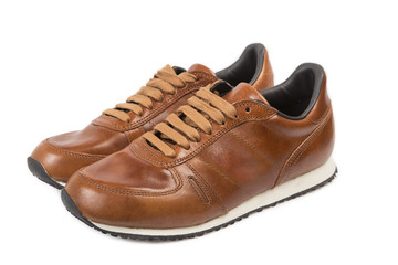 Leather Men Sneakers - Clipping Path