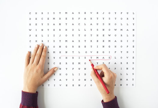 Find Search Words Game Concept